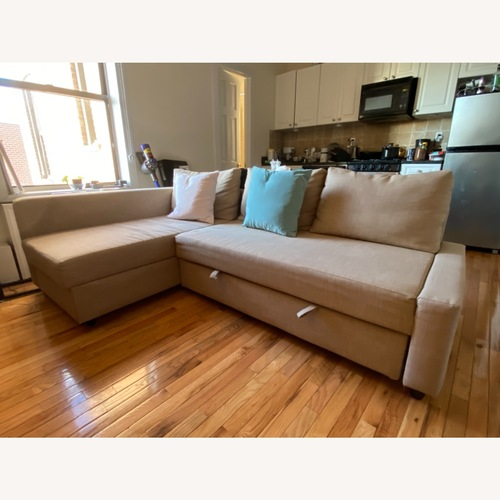 Used IKEA Beige Convertible Sofa Bed with Storage for sale on AptDeco