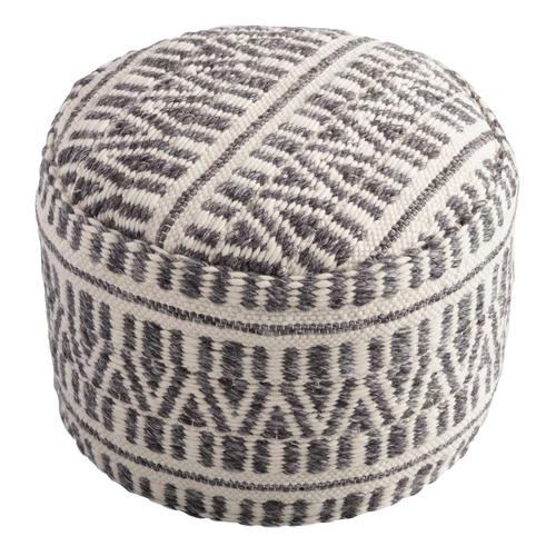Used World Market Woven Textured Floor Pouf for sale on AptDeco