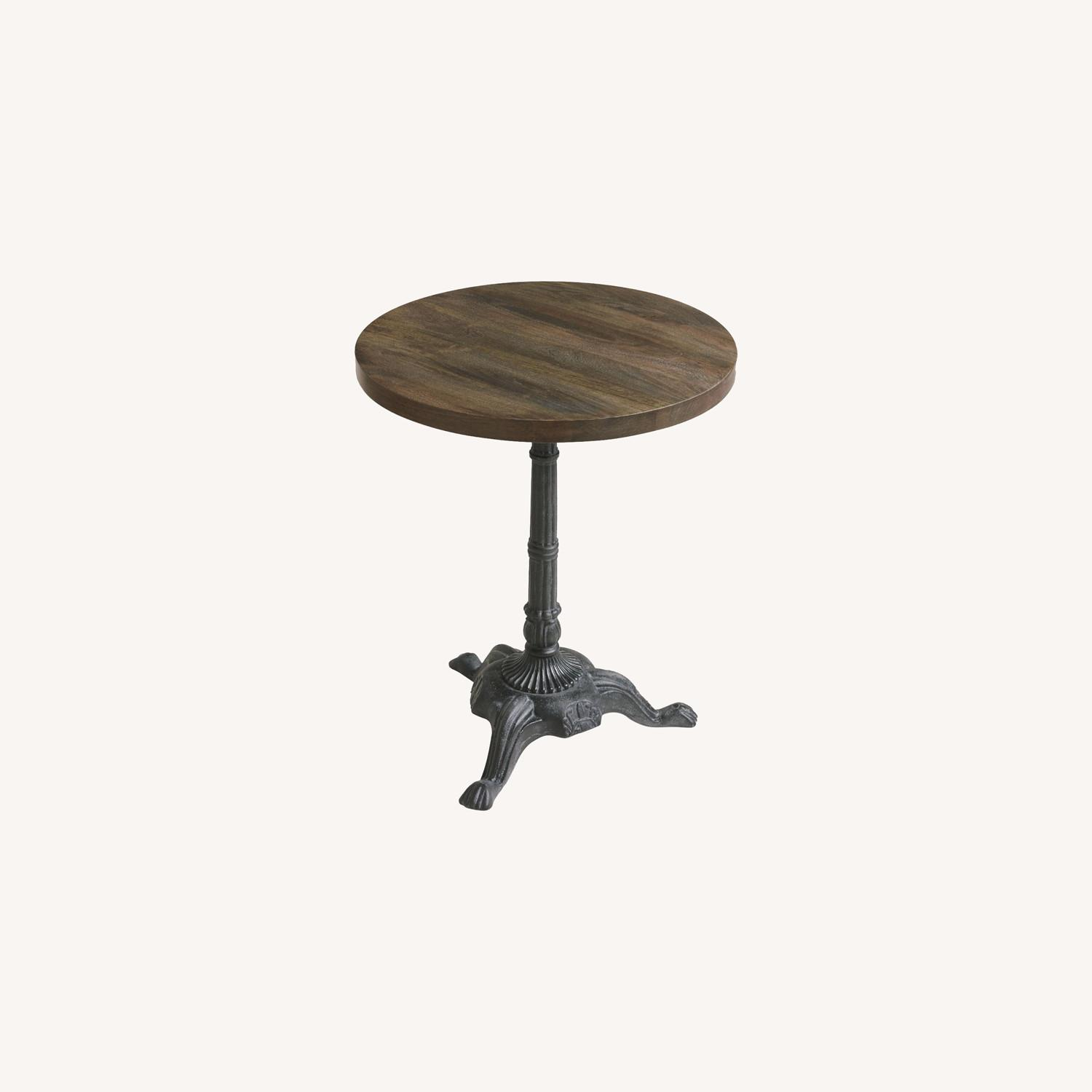 World Market Metal And Wood Bistro Accent Table - image-0