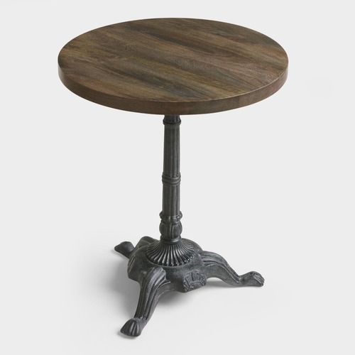 Used World Market Metal And Wood Bistro Accent Table for sale on AptDeco