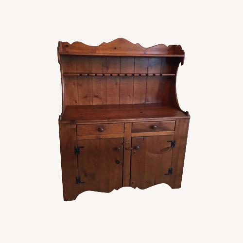 Used Beautiful Solid Pine Custom Built Hutch for sale on AptDeco
