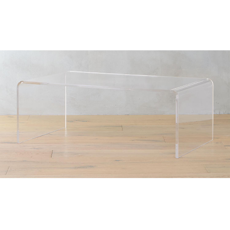 CB2 Peekaboo Acrylic Coffee Table - image-5