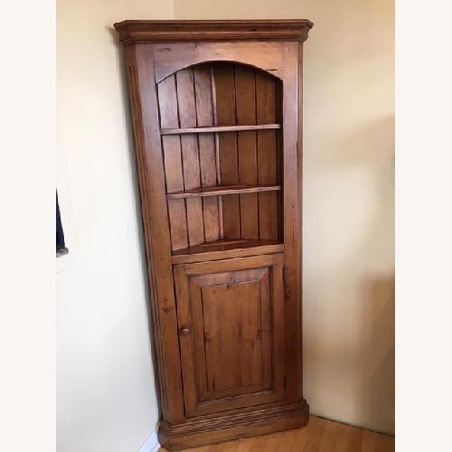 Used Custom Built Solid Pine Corner Cupboard for sale on AptDeco