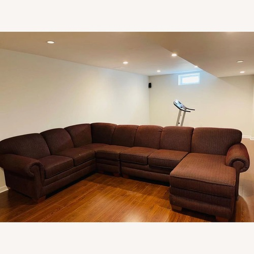 Used 6-Piece Motion Sectional Sofa in Russet for sale on AptDeco
