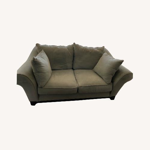 Used Raymour & Flanigan Light Blue Sofa for sale on AptDeco