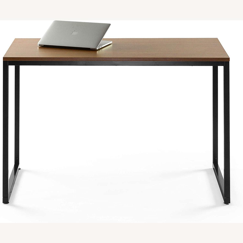 47 Inch Black Frame Computer/Office Desk Brown - image-2