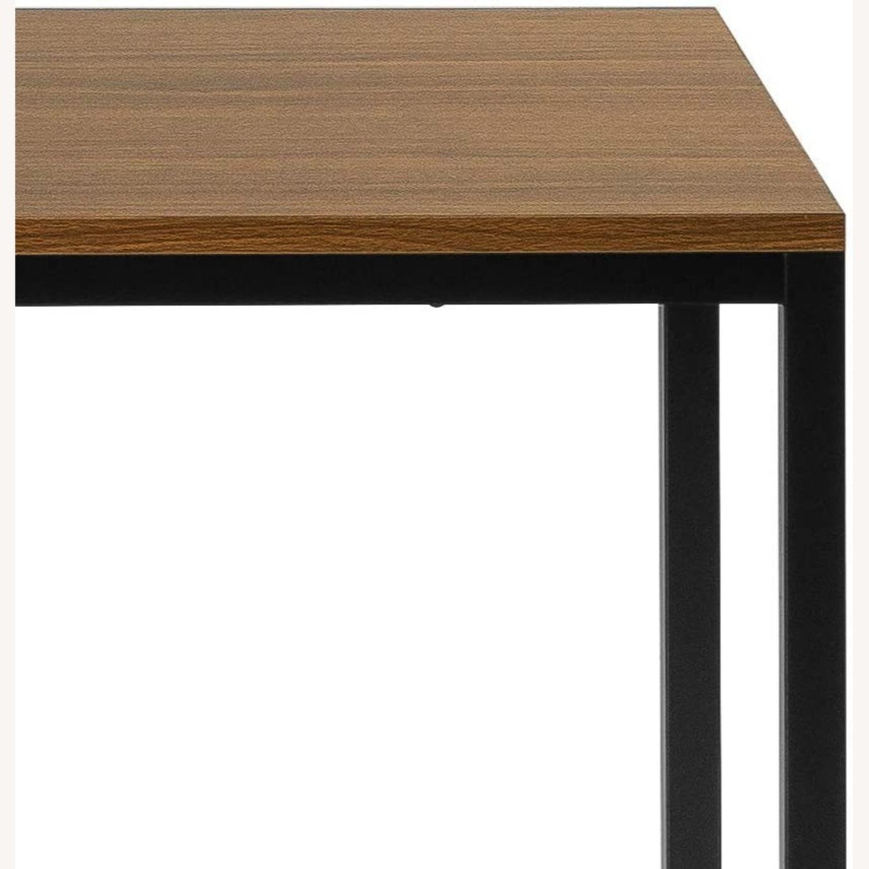 47 Inch Black Frame Computer/Office Desk Brown - image-3