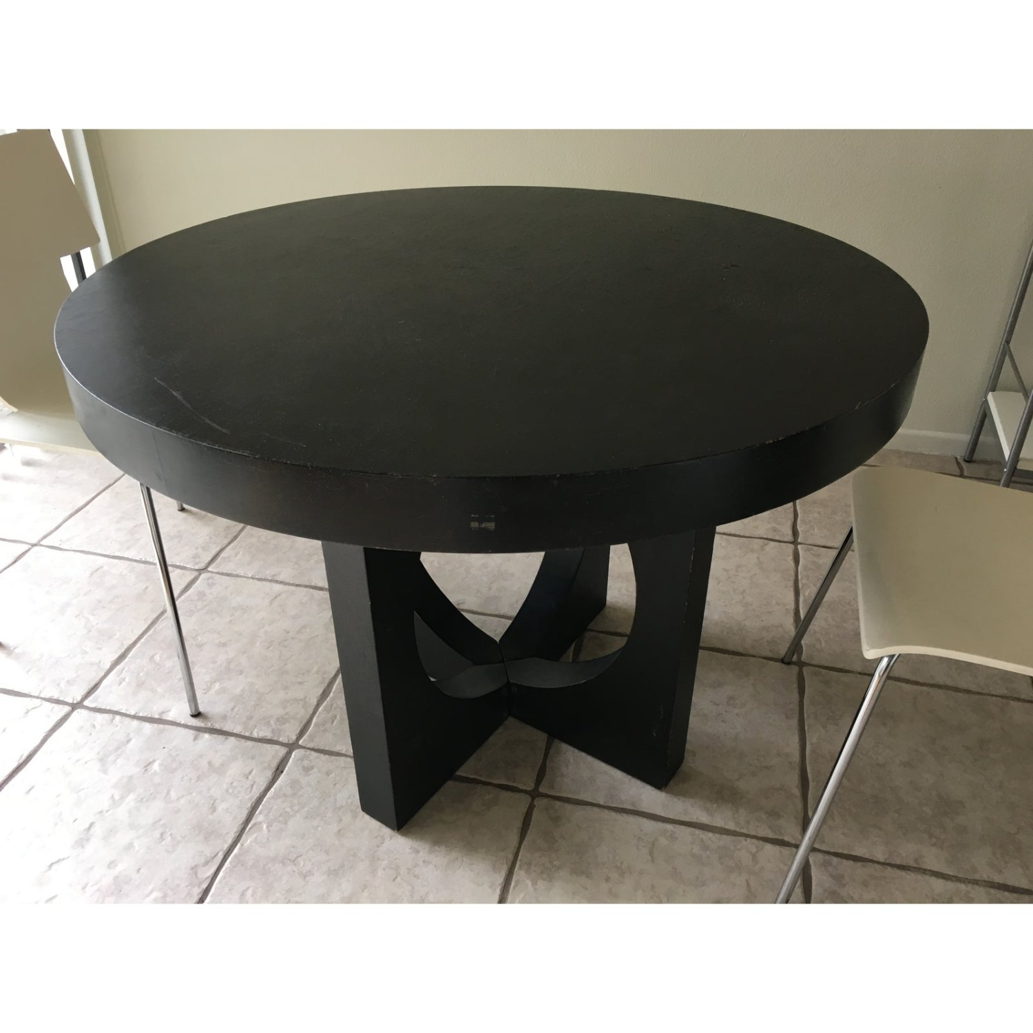 West Elm Round Cut Out Dining Table - image-1