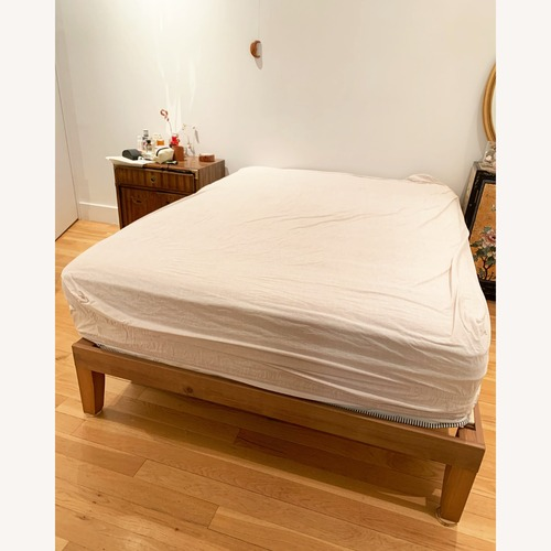 Used MCM Rustic Pine Bed Frame for sale on AptDeco