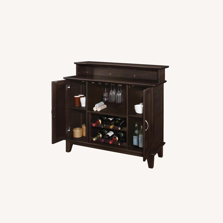 Bar Unit In Cappuccino Finish W/ 2-Tier Top - image-4