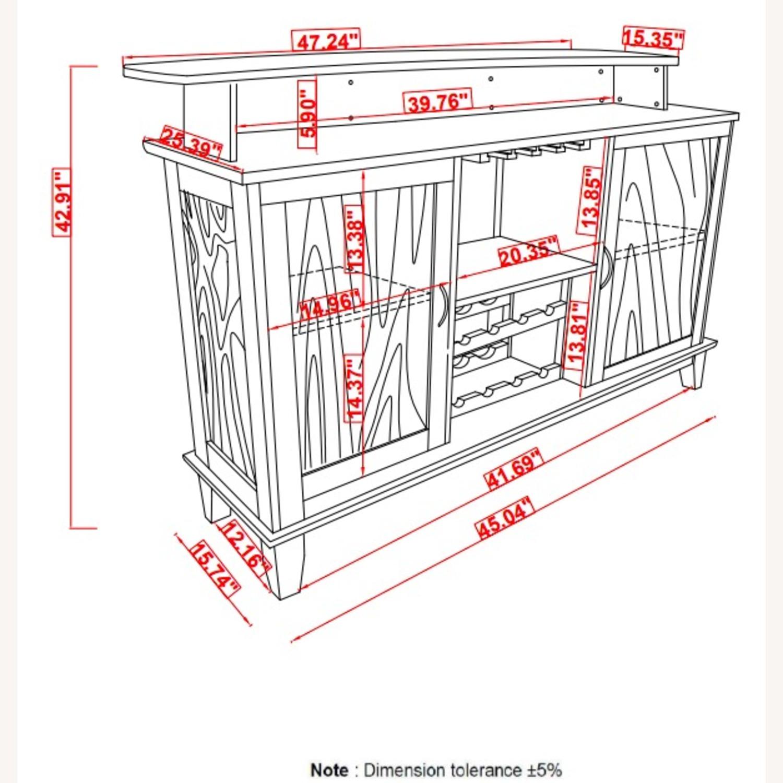 Bar Unit In Cappuccino Finish W/ 2-Tier Top - image-5