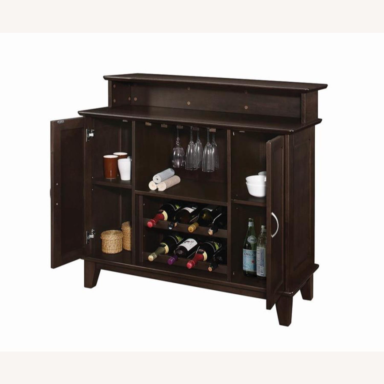 Bar Unit In Cappuccino Finish W/ 2-Tier Top - image-1