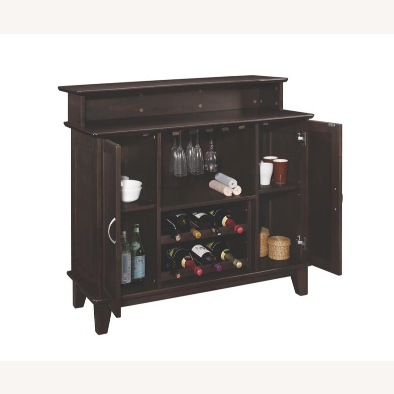 Bar Unit In Cappuccino Finish W/ 2-Tier Top - image-0