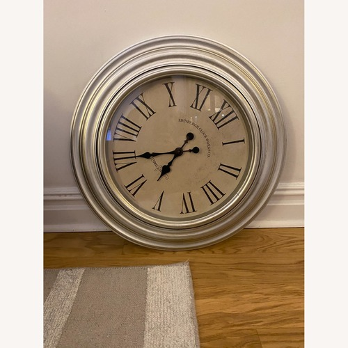 Used Silver Wall Clock for sale on AptDeco