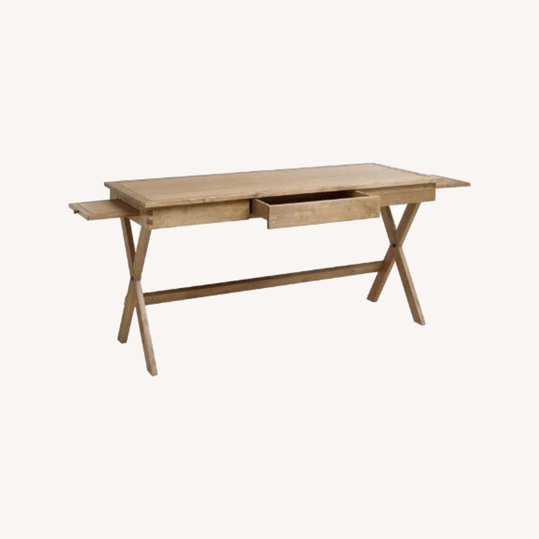 World Market Brown Wood Desk - image-0