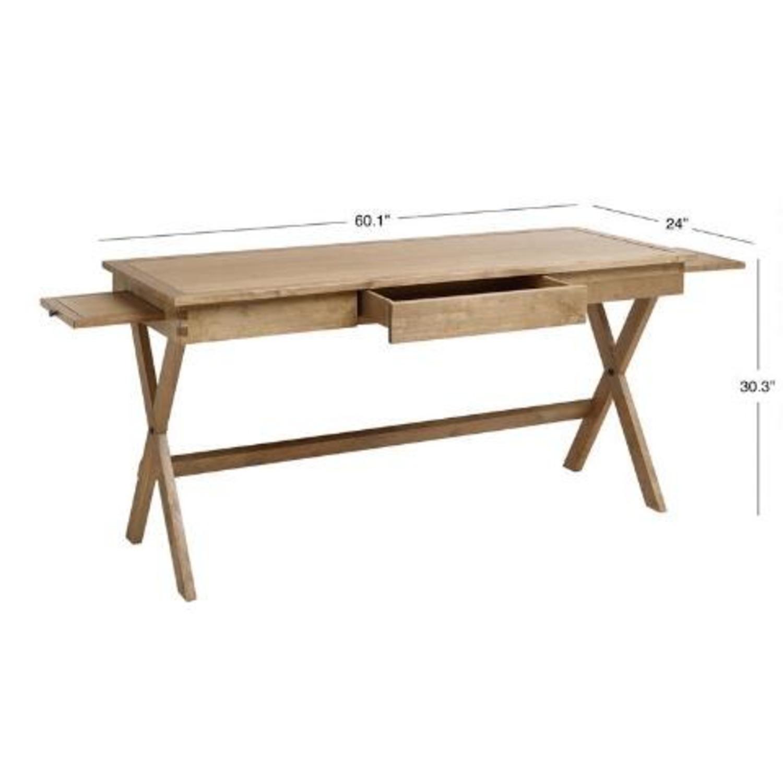 World Market Brown Wood Desk - image-2