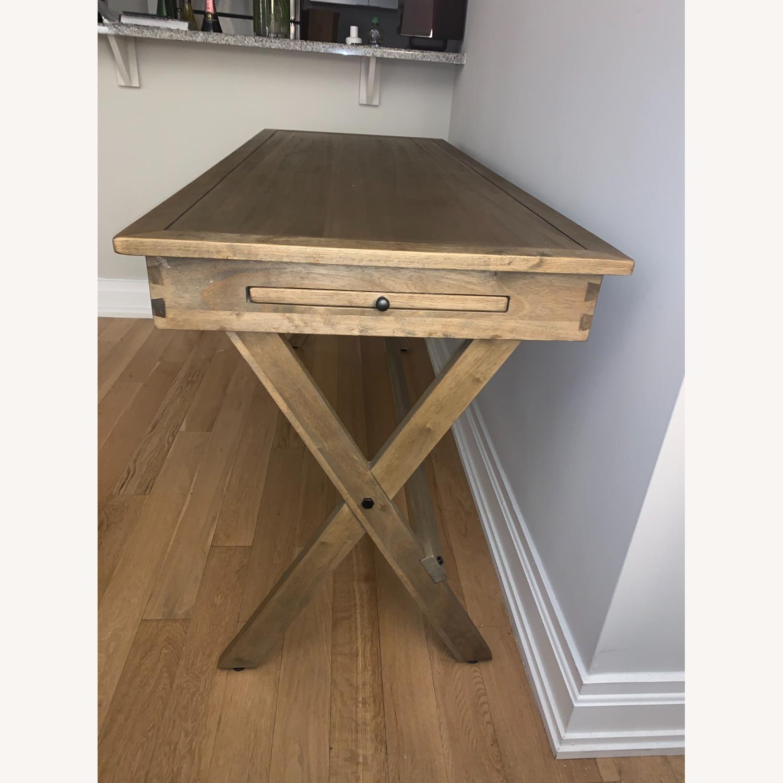 World Market Brown Wood Desk - image-3