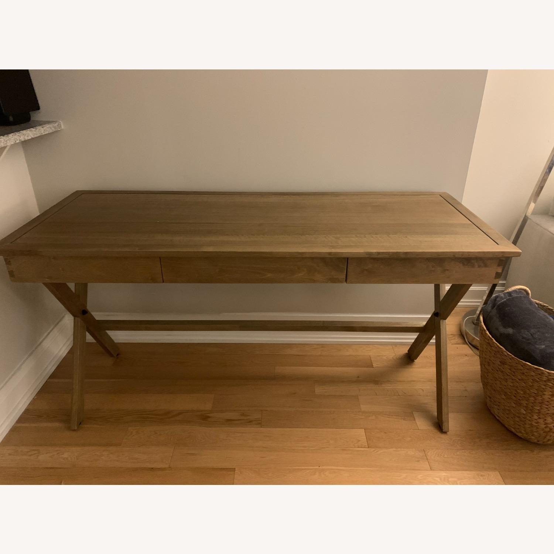 World Market Brown Wood Desk - image-4