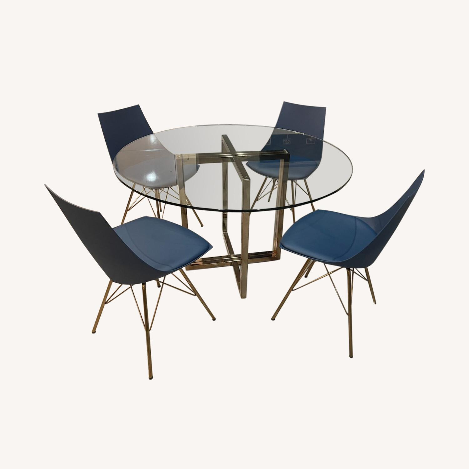 CB2 Dining Room Table + Bonus Chairs - image-0