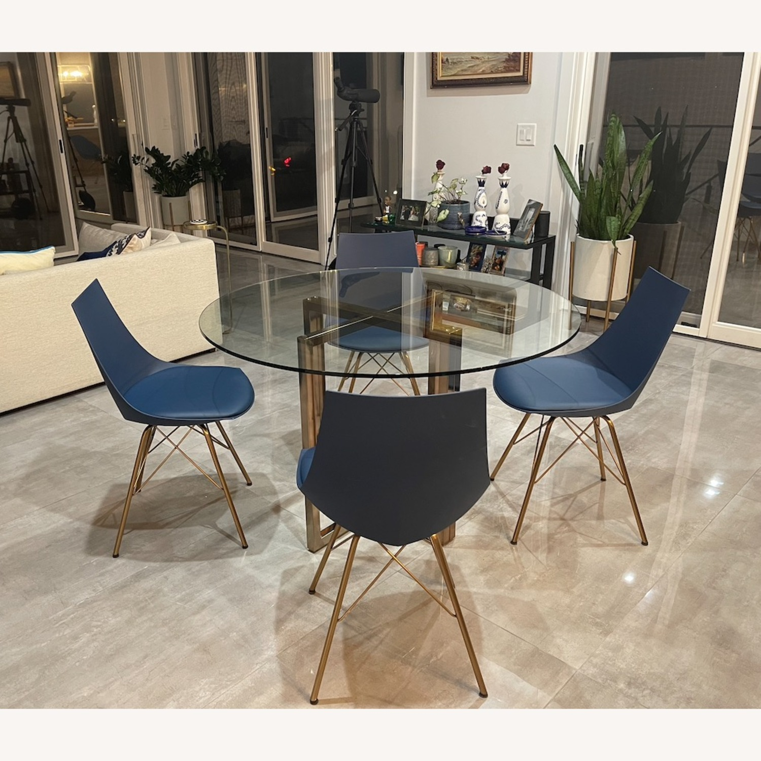 CB2 Dining Room Table + Bonus Chairs - image-5