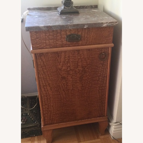 Used ABC Carpet and Home 2 Biedermeier Marble Top Side Tables for sale on AptDeco