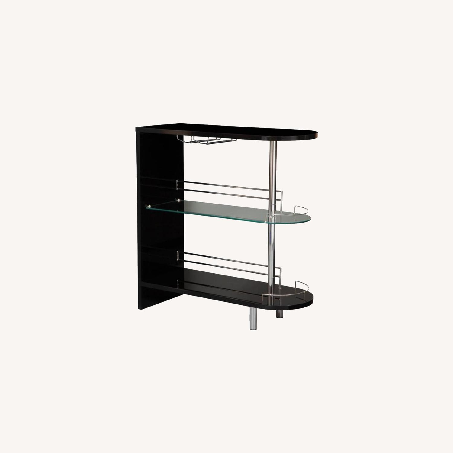 Bar Unit In Glossy Black W/ Rounded Ends - image-7