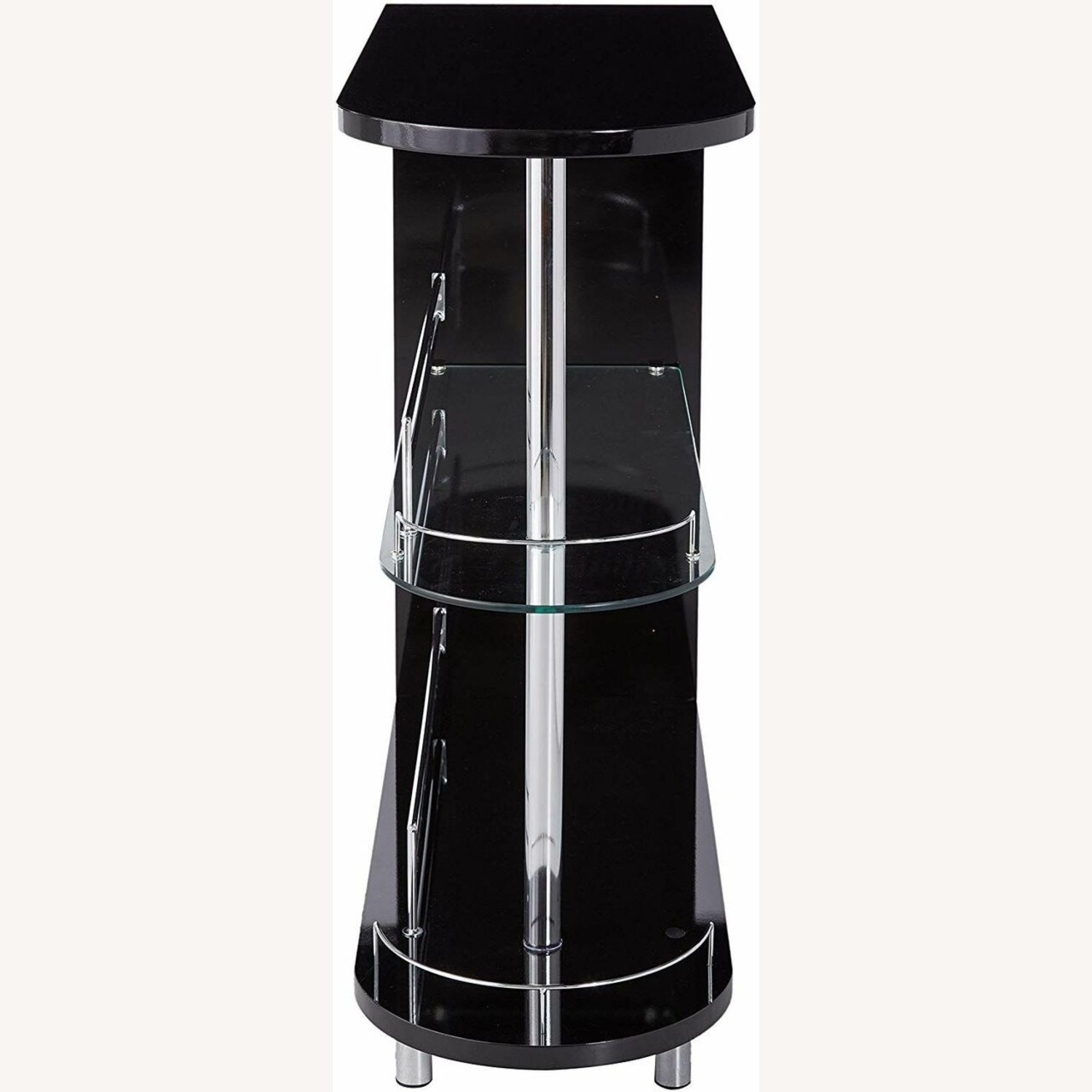 Bar Unit In Glossy Black W/ Rounded Ends - image-2