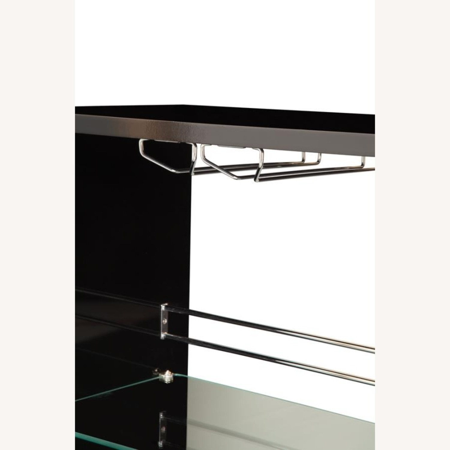 Bar Unit In Glossy Black W/ Rounded Ends - image-4