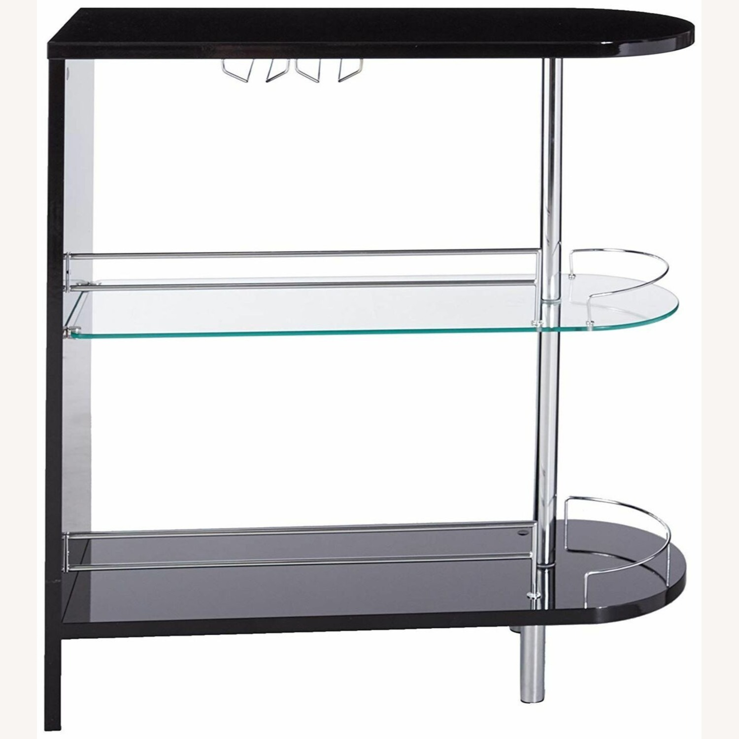 Bar Unit In Glossy Black W/ Rounded Ends - image-1