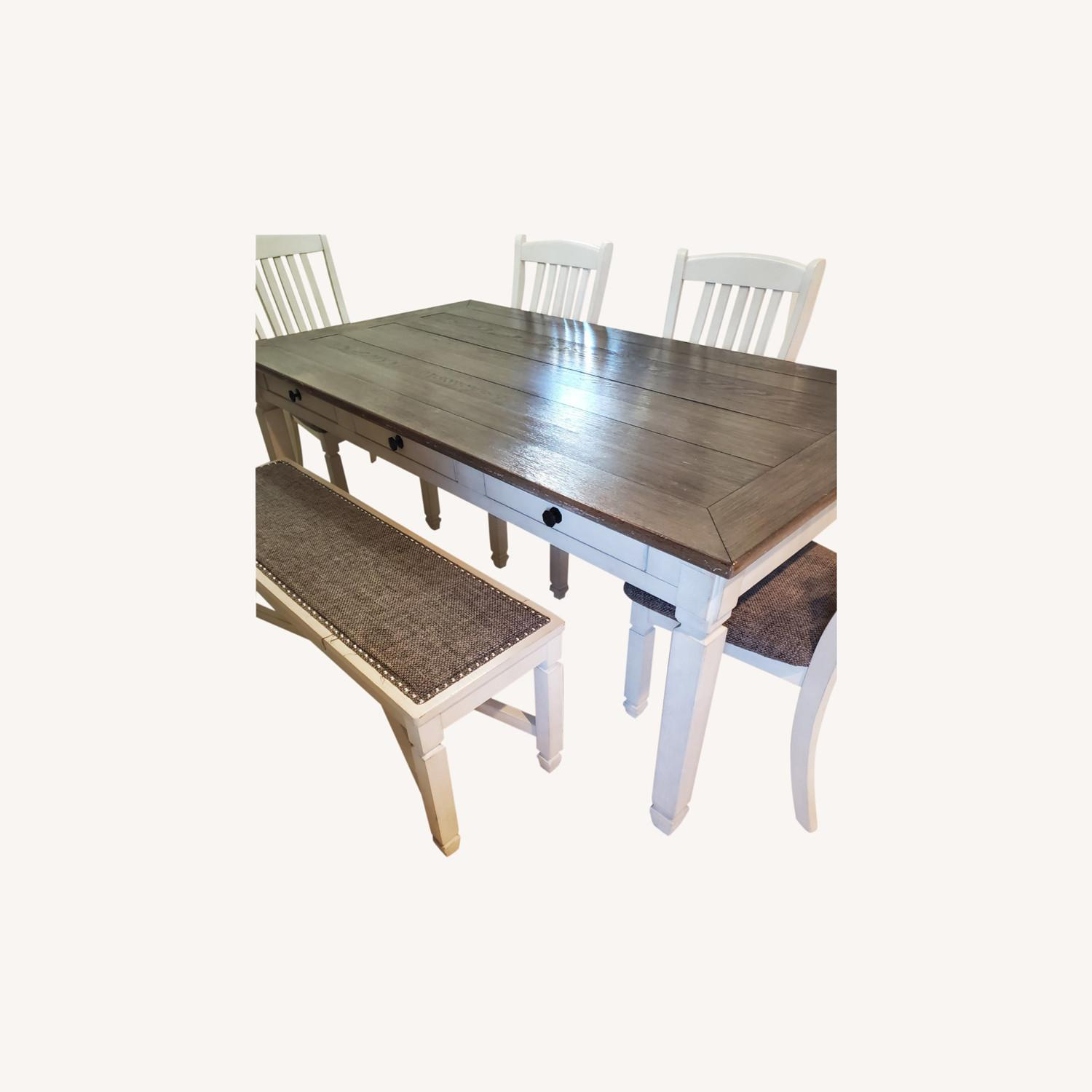 New Rustics Ashley Home Dining Table Seats 7 - image-0