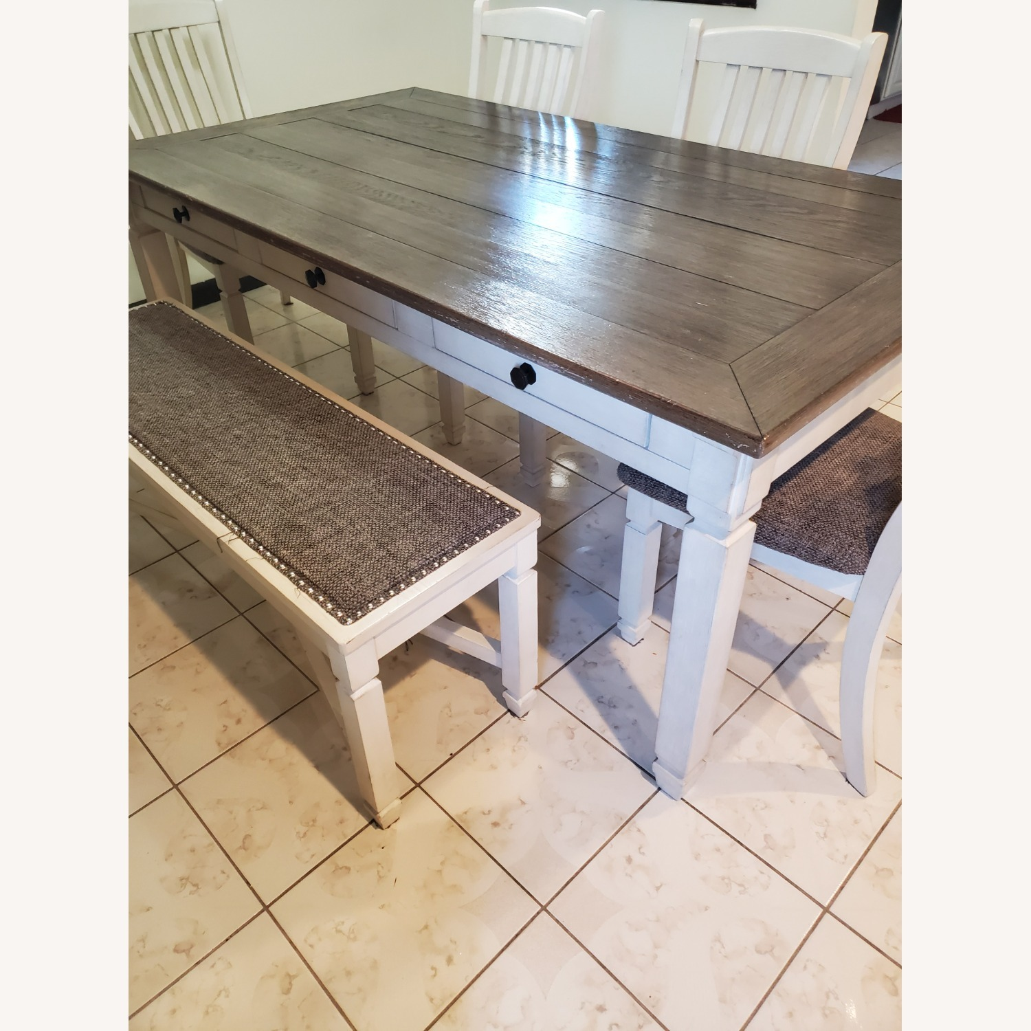 New Rustics Ashley Home Dining Table Seats 7 - image-1
