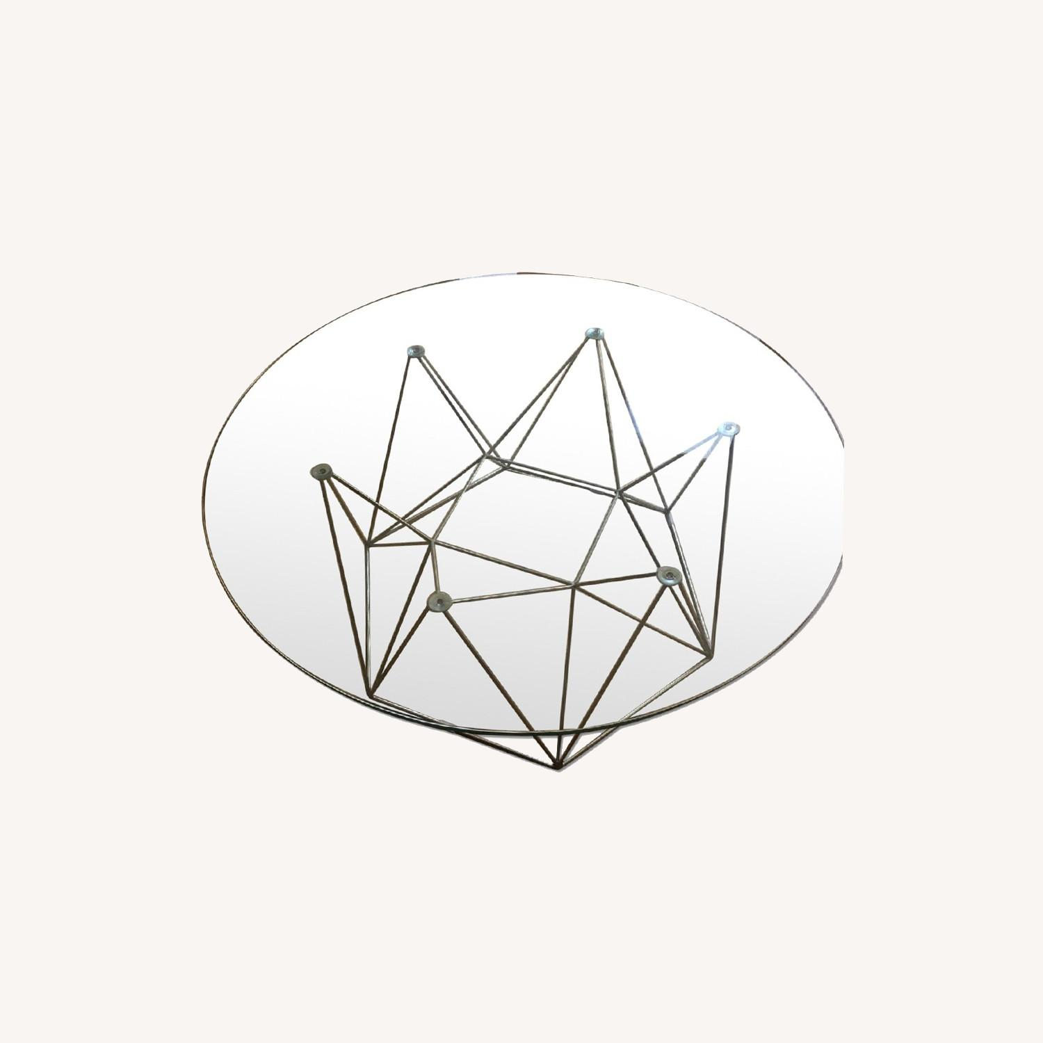 Glass Round Modern Coffee Table - image-0