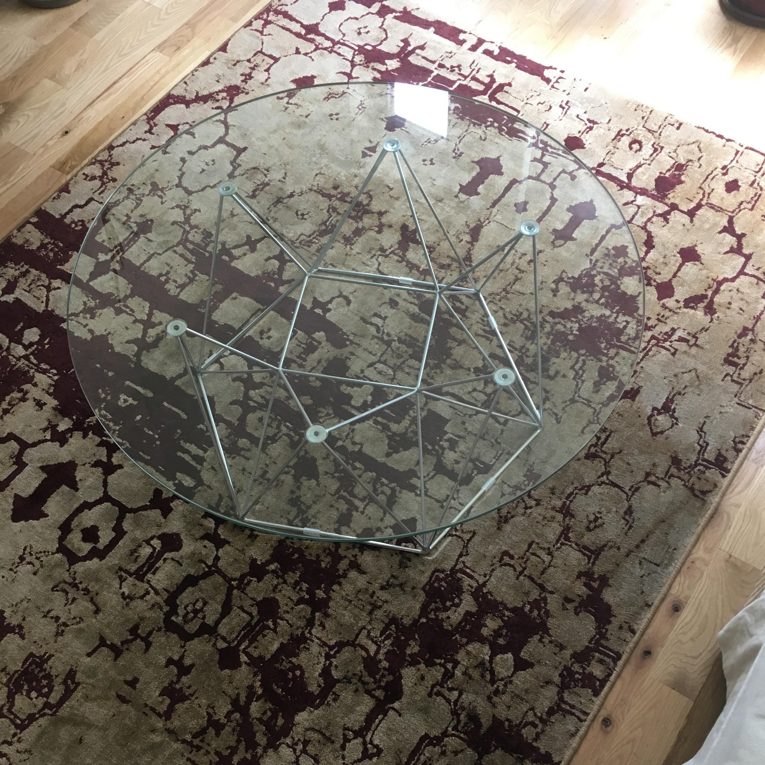 Glass Round Modern Coffee Table - image-6