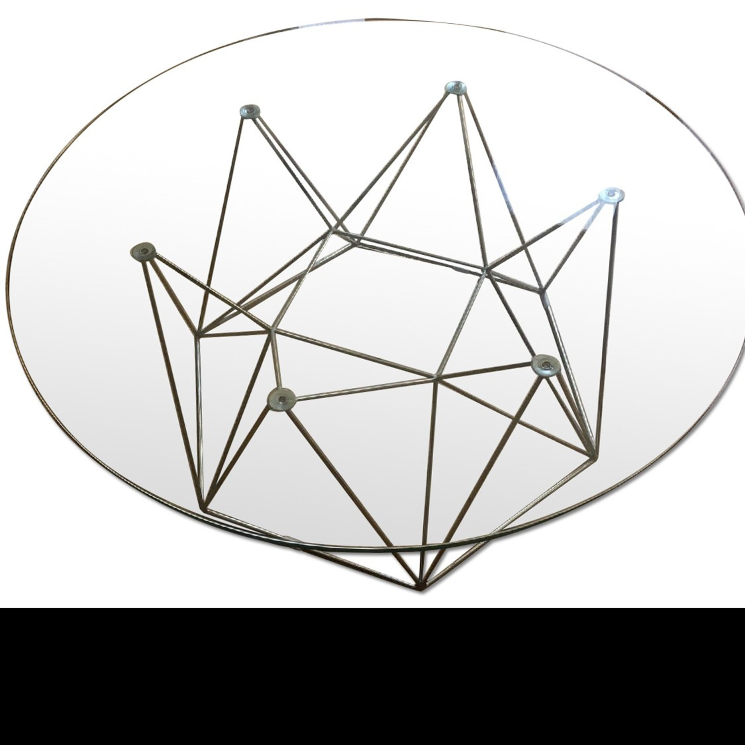Glass Round Modern Coffee Table - image-1