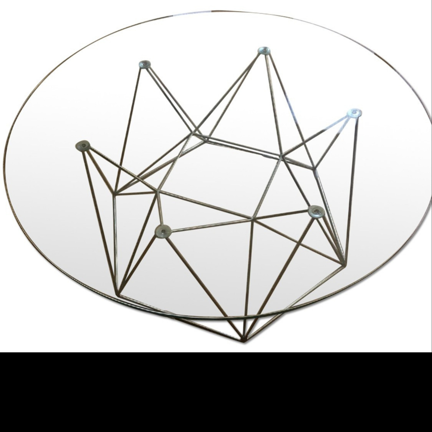 Glass Round Modern Coffee Table - image-8