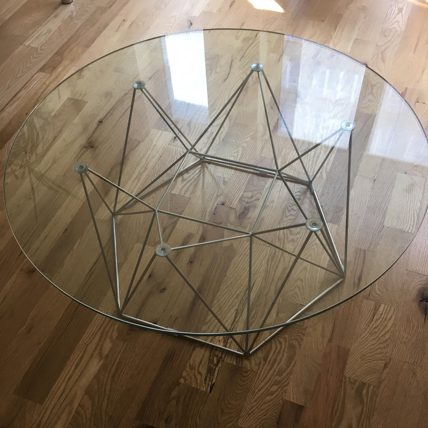 Glass Round Modern Coffee Table - image-5