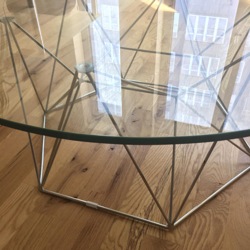 Used Glass Round Modern Coffee Table for sale on AptDeco