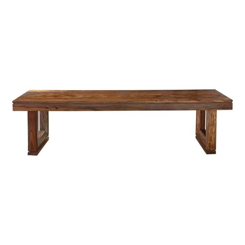 Used Rustic Style Bench In Rich Sienna Finish for sale on AptDeco
