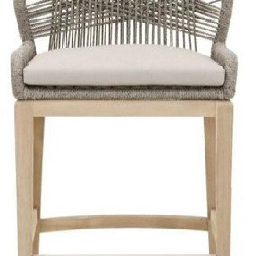 Used Cable Back Easton Counter Stool in Platinum for sale on AptDeco