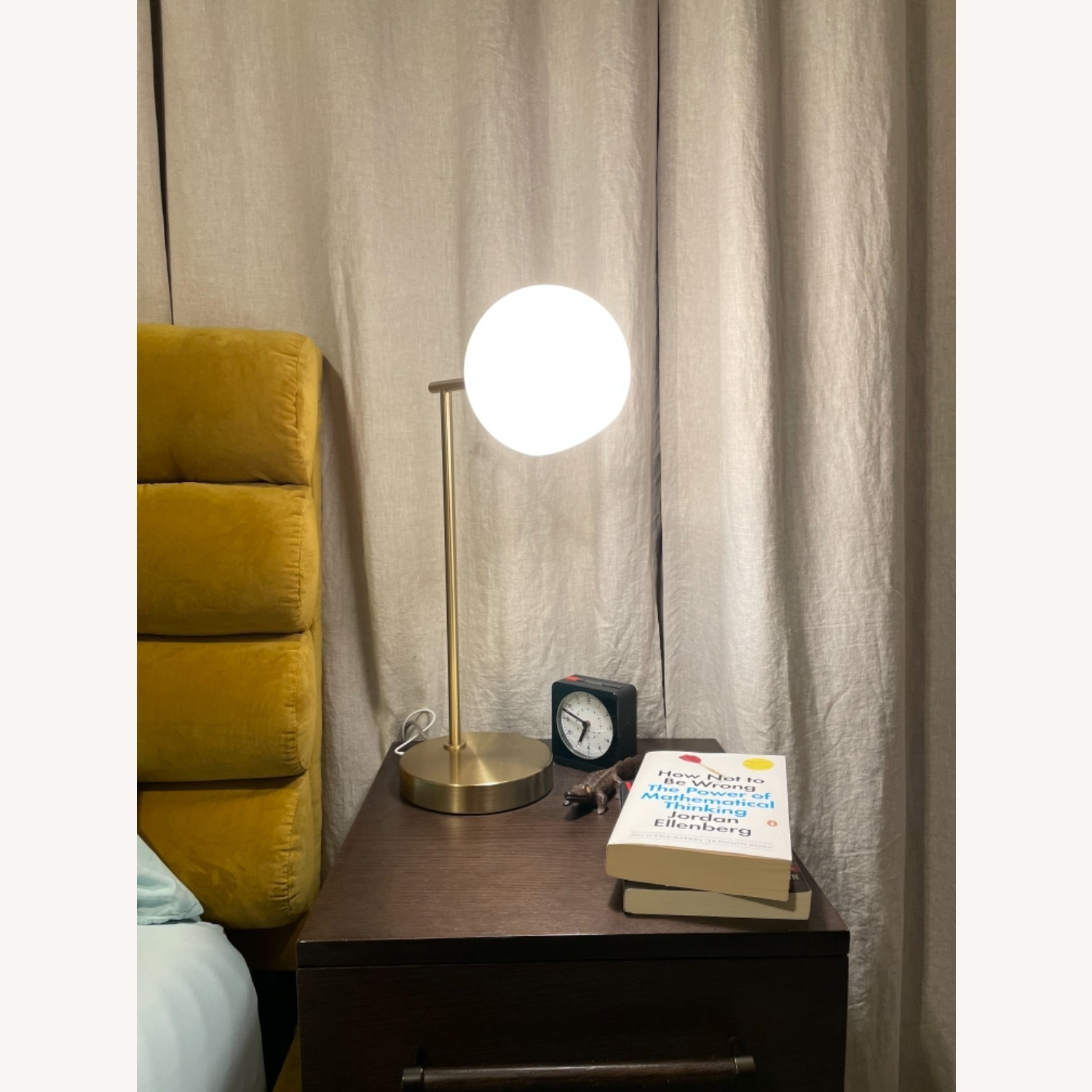 West Elm Staggered Glass USB Table Lamp - Milk - image-3