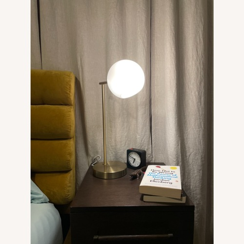 Used West Elm Staggered Glass USB Table Lamp - Milk for sale on AptDeco