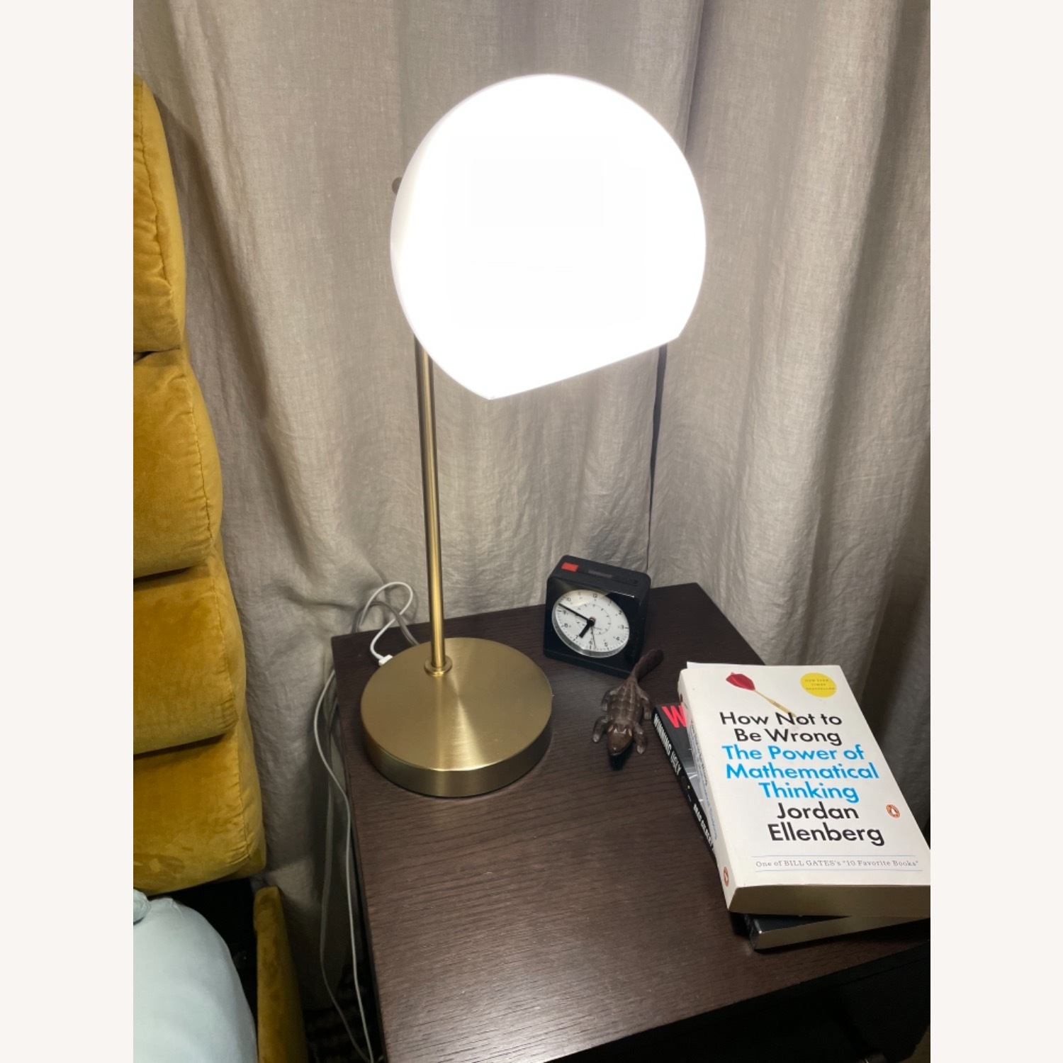 West Elm Staggered Glass USB Table Lamp - Milk - image-2