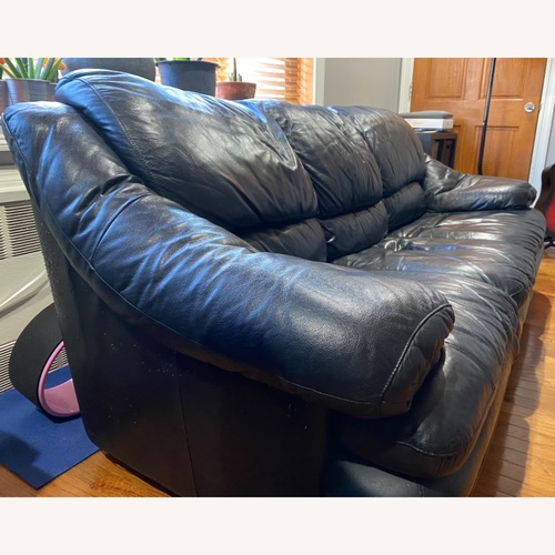 Used Black Leather Sofa for sale on AptDeco