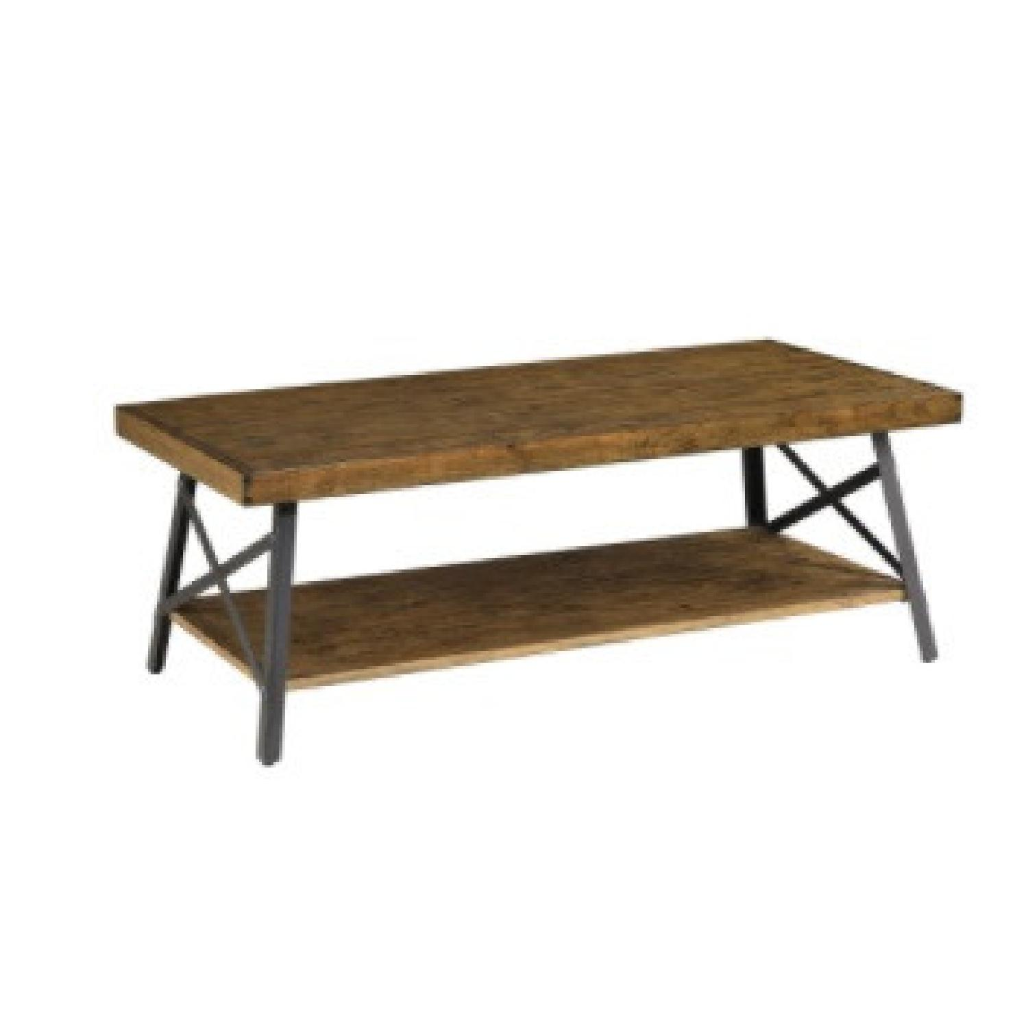 Wood Coffee Table with Metal Legs - image-6