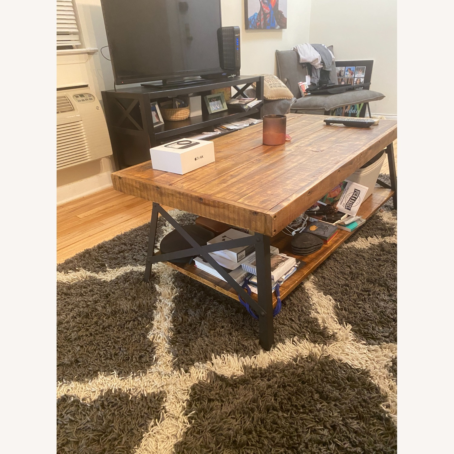 Wood Coffee Table with Metal Legs - image-1