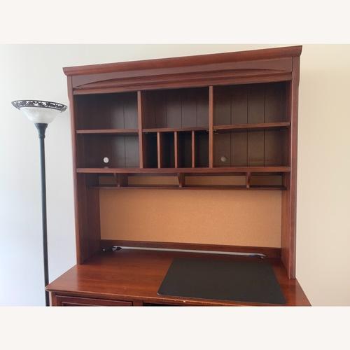 Used Stanley Solid Wood Study Desk + Bookshelf for sale on AptDeco