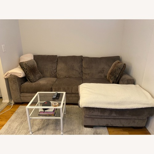 Used Bob's Discount Furniture Luxe Grey 2-Pc. Sectional for sale on AptDeco
