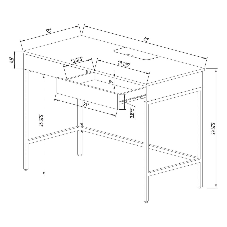 Target Loring Wood Desk with Drawers - image-6