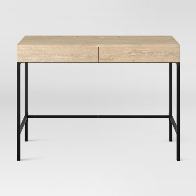 Target Loring Wood Desk with Drawers - image-1