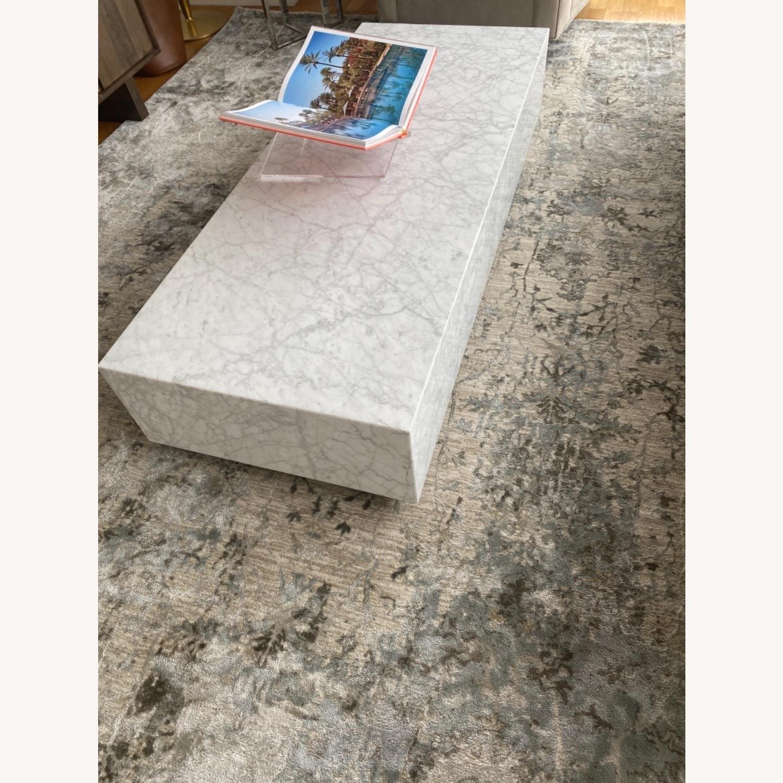 Restoration Hardware Marble Coffee Table - image-1